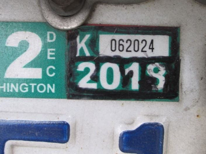 Sharpiegate In Washington: Driver Edits Expired Tab With Marker