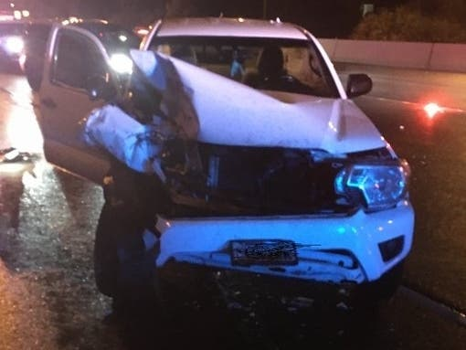 Video Shows Moment Troopers Car Hit By Drunk Driver On I-405