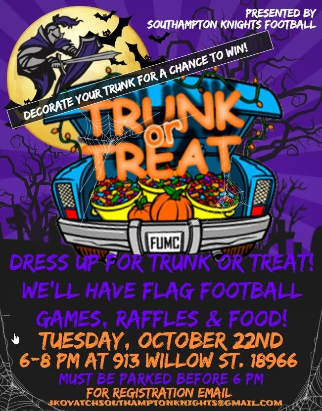Trunk Or Treat And Flag Bowl At The Knights Football Field Upper Southampton Pa Patch