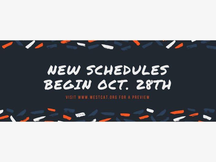 Westcat Bus Schedules Change Saturday October 28 2017