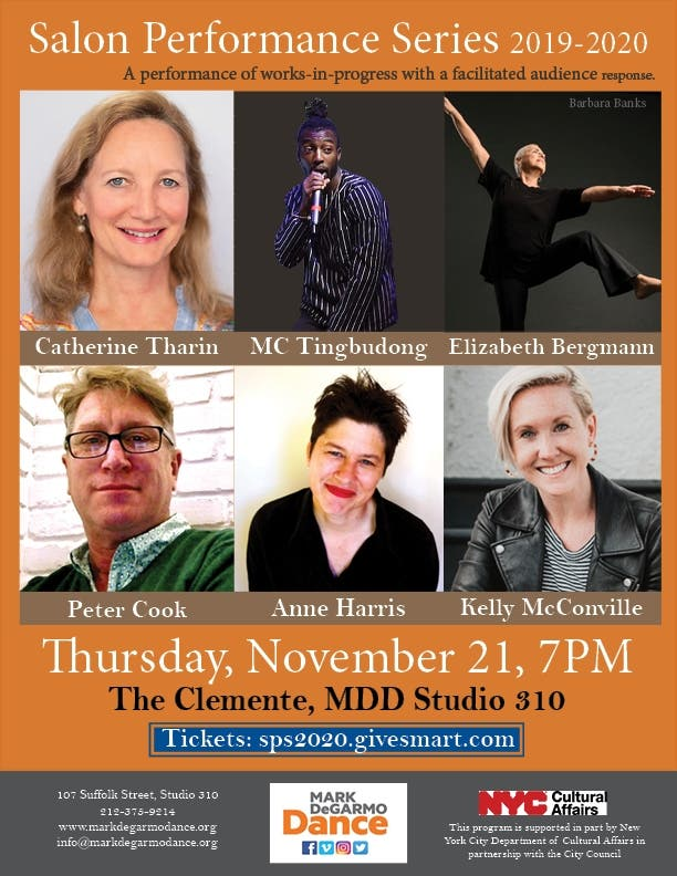 Nov 21 | Mark DeGarmo Dance's Salon Series | Lower East Side-Chinatown - Patch.com