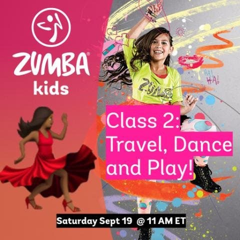 Online Kids Zumba - Travel, Dance, and Play - Class 2!