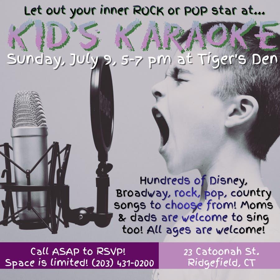 Kid's Karaoke Returns to Tigers' Den on July 9th