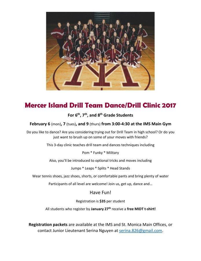 Mercer Island Drill Team Dance/Drill Clinic | Mercer Island