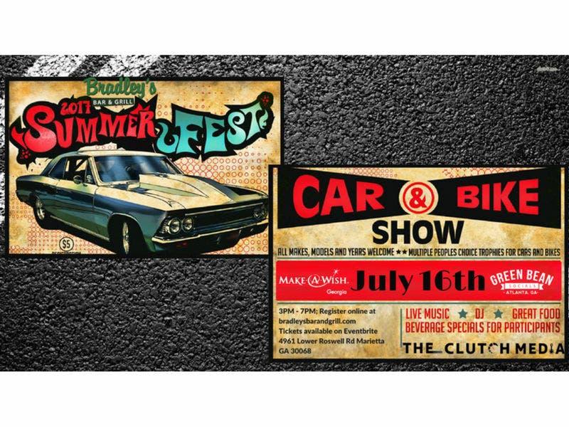 Bradleys Bar Grill Marietta GA Car Bike Show July - Car show atlanta ga