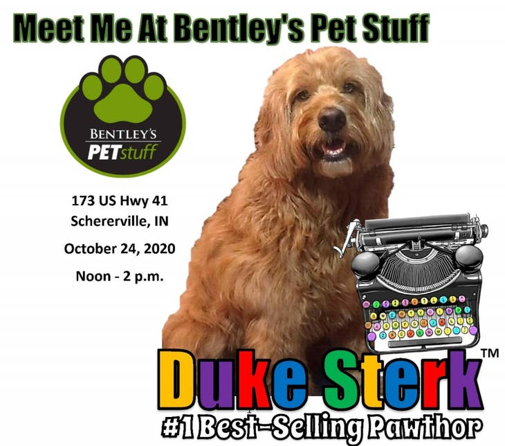 Meet #1 Best-Selling Pawthor Duke Sterk @ Bentley's Pet Stuff