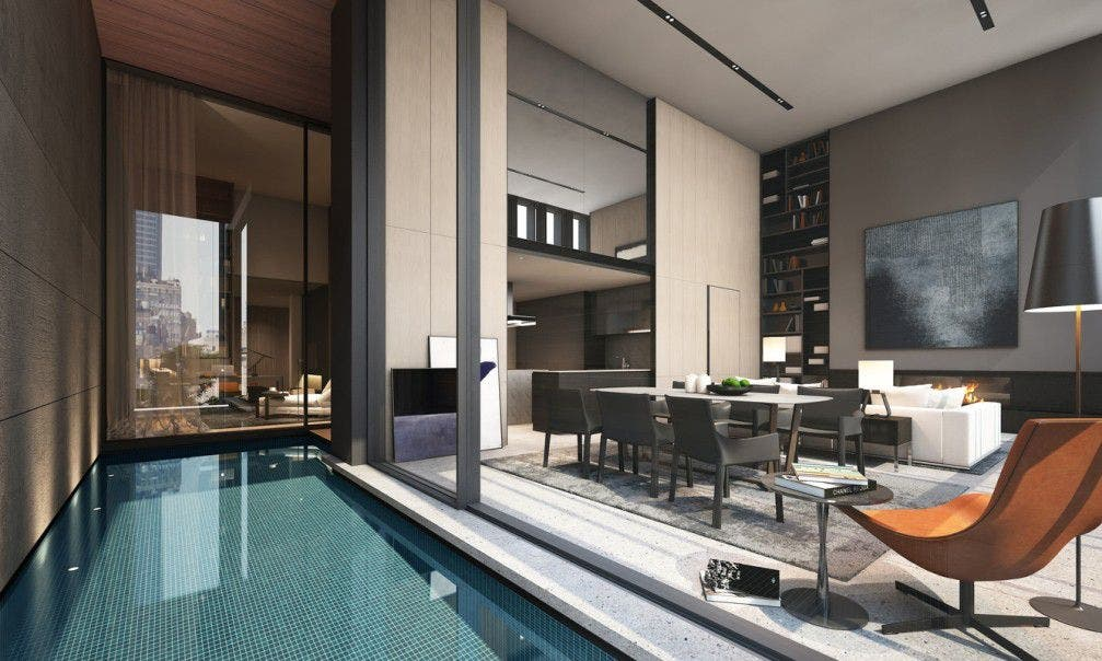 This Chelsea Apartment Has A Heated Pool In The Living Room