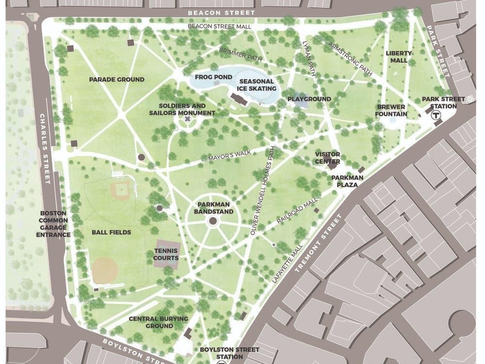 map of boston common park Public Input Sought On The Boston Common Master Plan Boston Ma map of boston common park