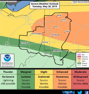 Numerous Severe Storms Possible For Pittsburgh Tuesday | Pittsburgh