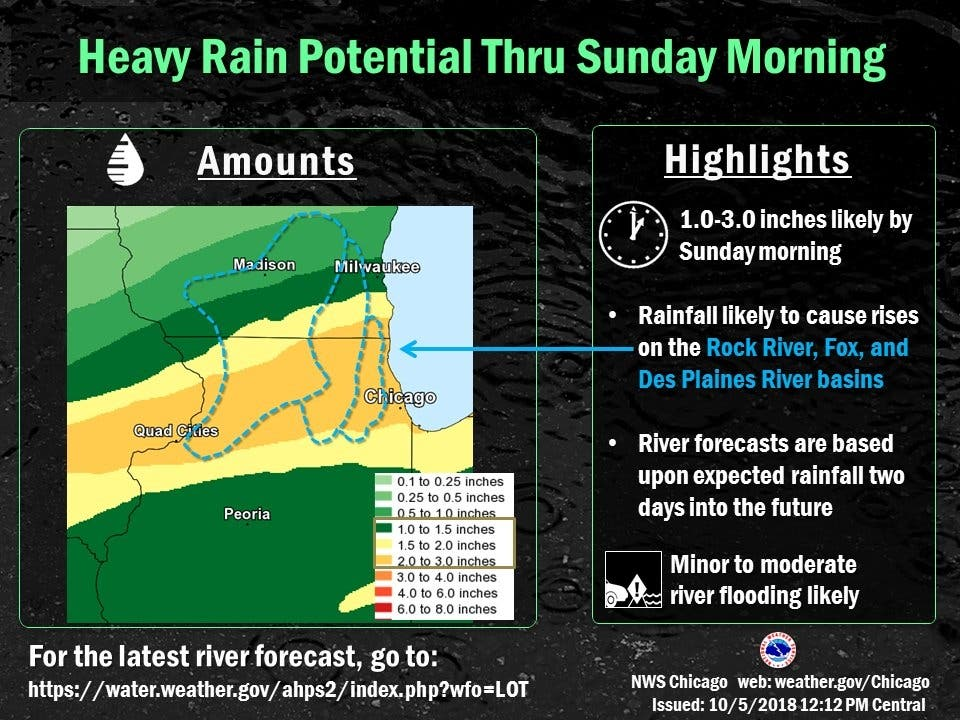 Storms, Flooding Possible: Illinois Weekend Weather | Lemont