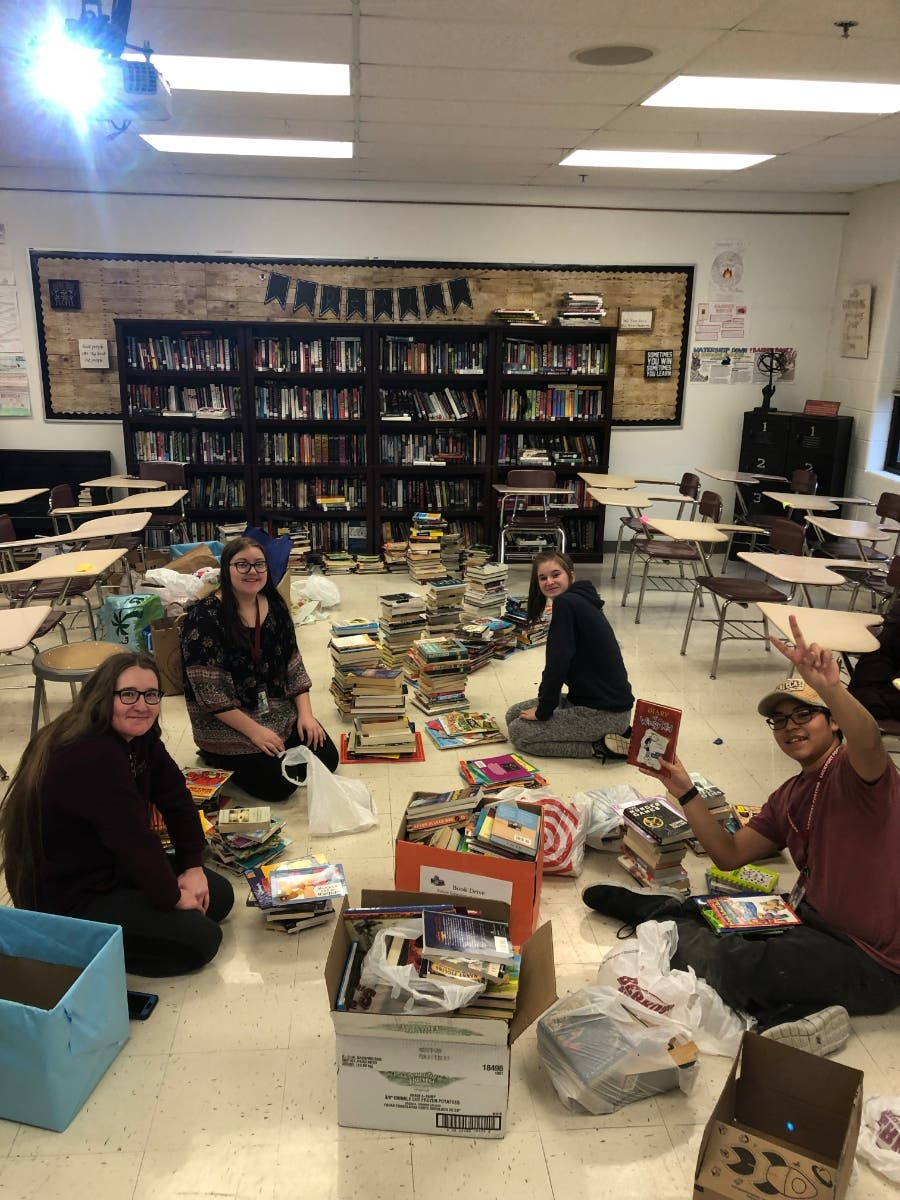 lths book drive collects 7k books for scarce homer glen il patch lths book drive collects 7k books for