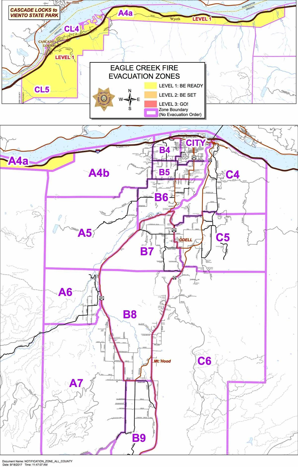 The Latest Map Depicting Evacuation Zones By Color Red Level 3 Orange 2 Yellow 1 Photo Courtesy Multnomah County