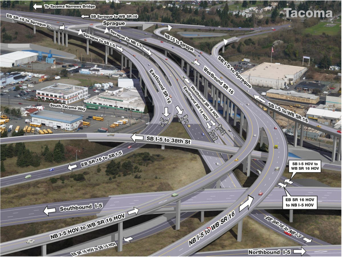 Expect Closures At The I-5/SR 16 Interchange This Week