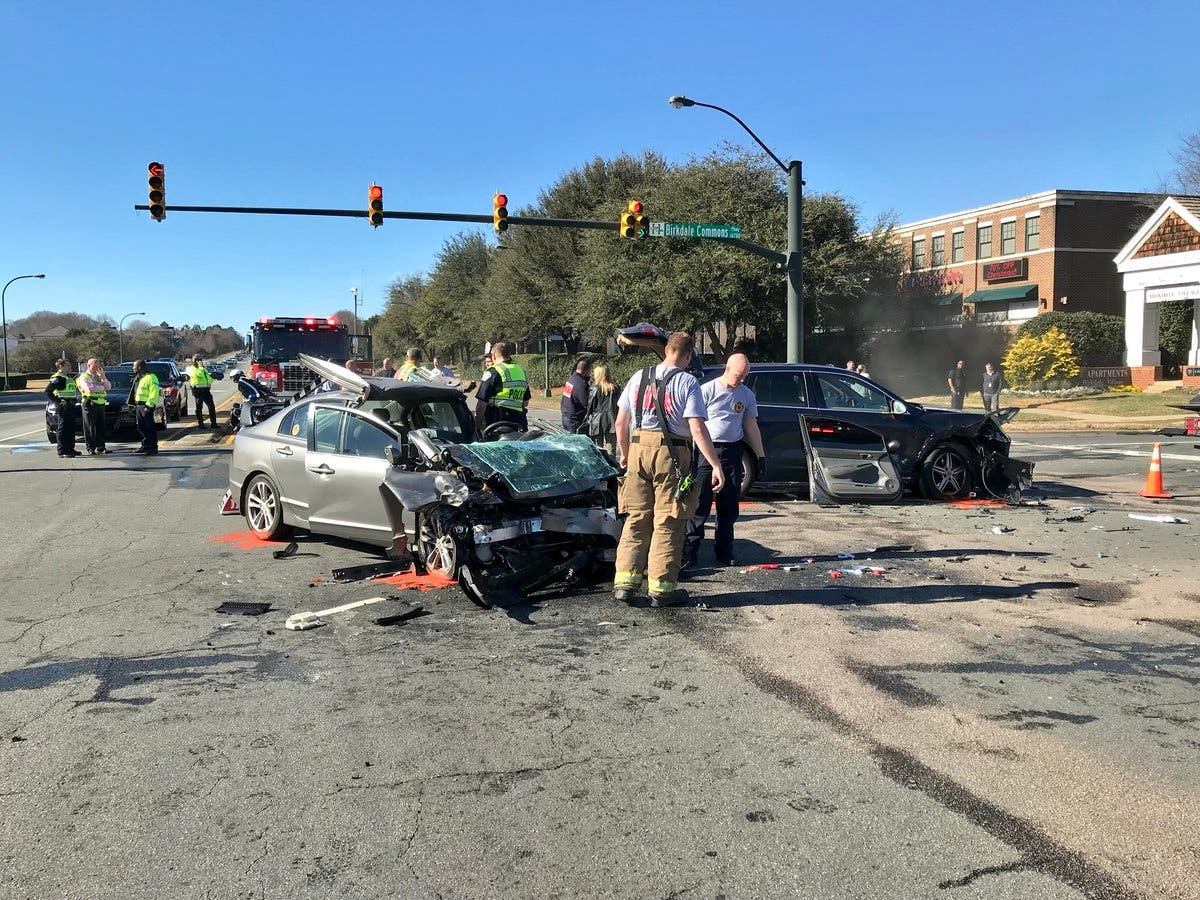 Two-Car Wreck Leaves 1 Pinned In, Tangles Traffic In