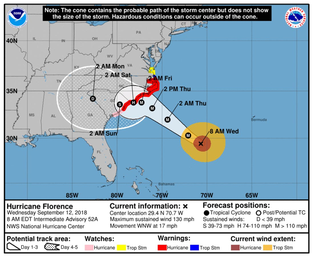 Hurricane Florence Turns South: What It Means For NC | Charlotte, NC