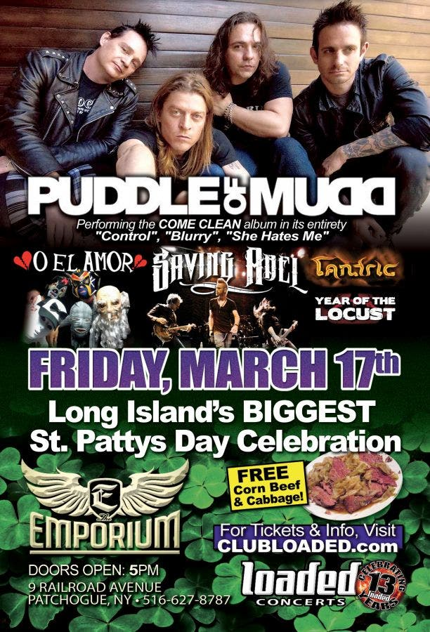 The Emporium Kick's Off St  Patty's Day with Puddle of Mudd