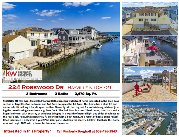 Waterfront House For Sale 224 Rosewood Dr Bayville Nj 08721 Lacey Nj Patch