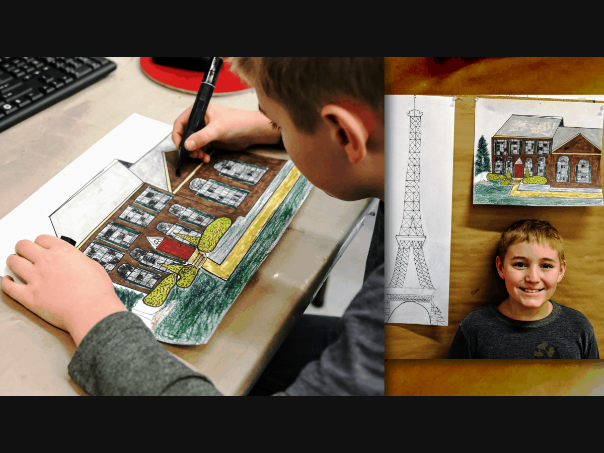 Drawing Skills class (ages 7-11) offered at the ARTfactory