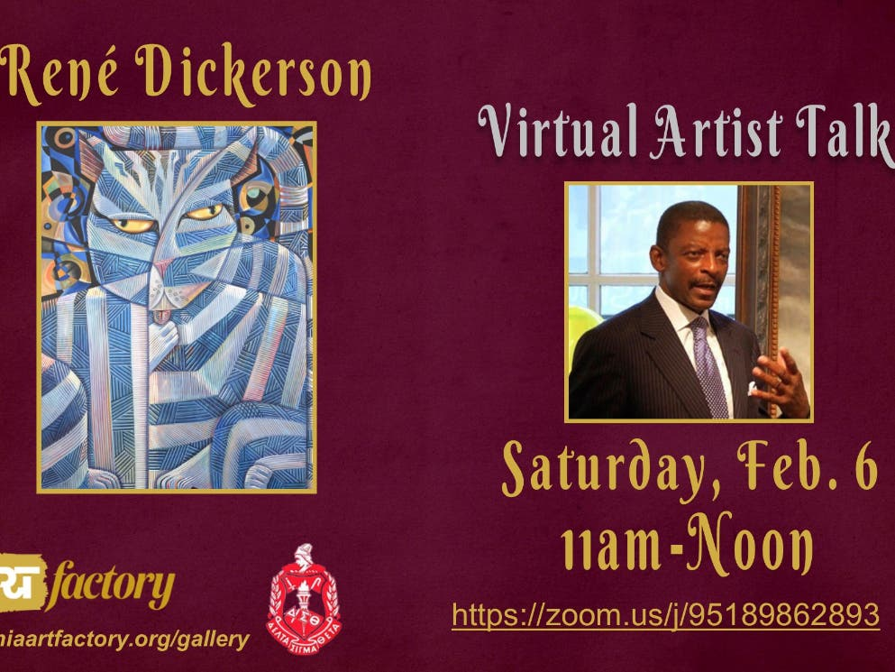 FREE Virtual Artist Talk w/ René Dickerson