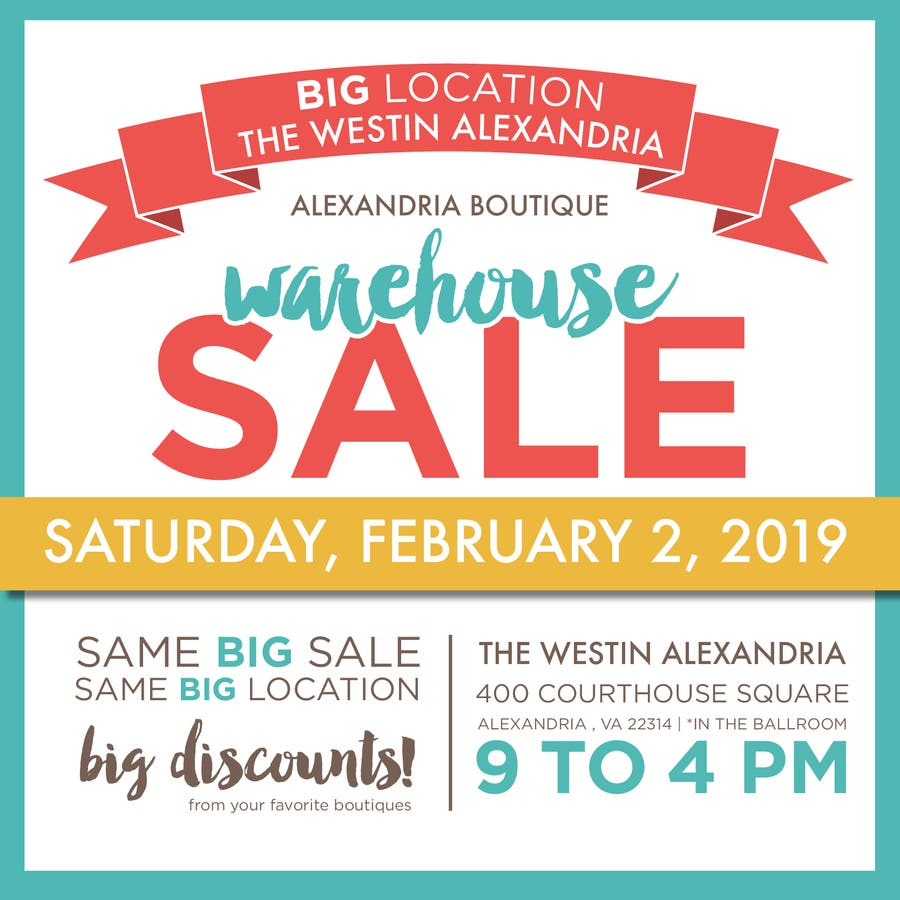 Alexandria Warehouse Sale Marks 15th Year | Old Town
