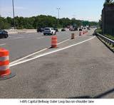 0e21ac352d Beltway Shoulder To Be Bus Travel Lane During Metro Shutdown