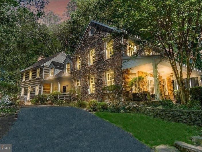 VA, DC Dream Homes: Redone 1790 Log Cabin, Elite Mansion