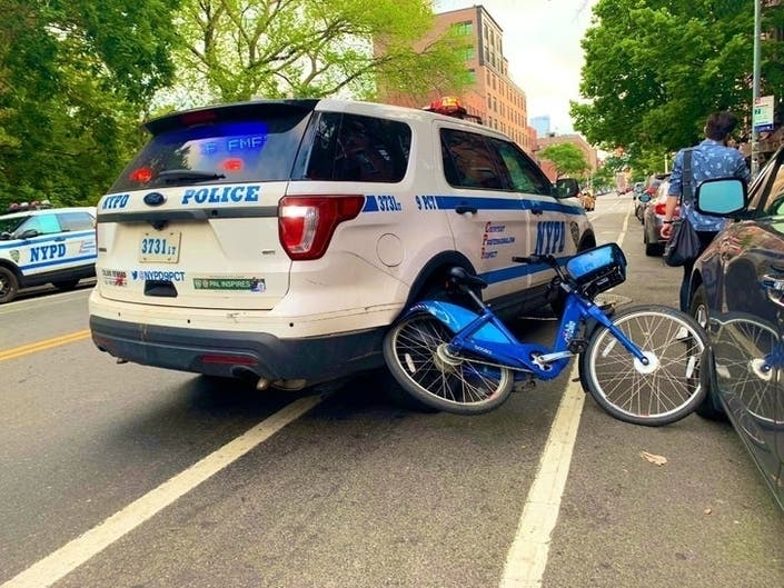 Cop Rams Citi Bike, Tells Rider Was For His Safety | Patch PM