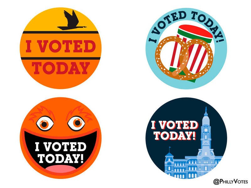 It's just a graphic of Agile I Voted Stickers Printable