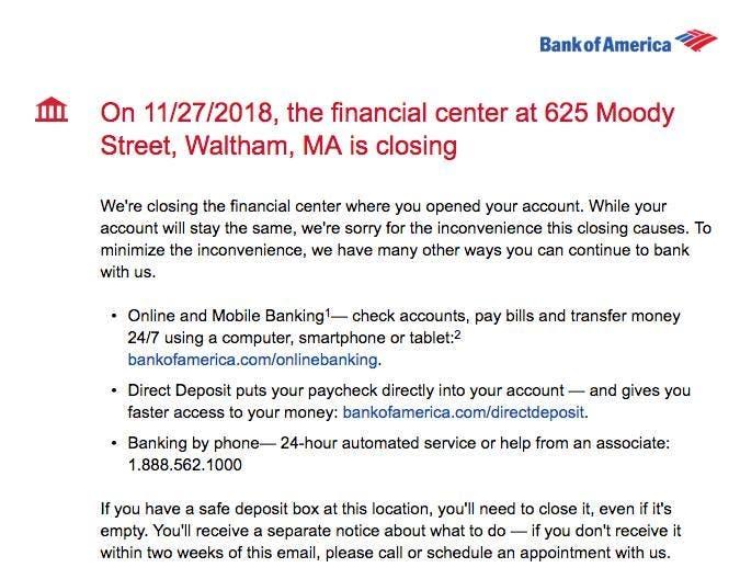 Bank of america locations boston ma