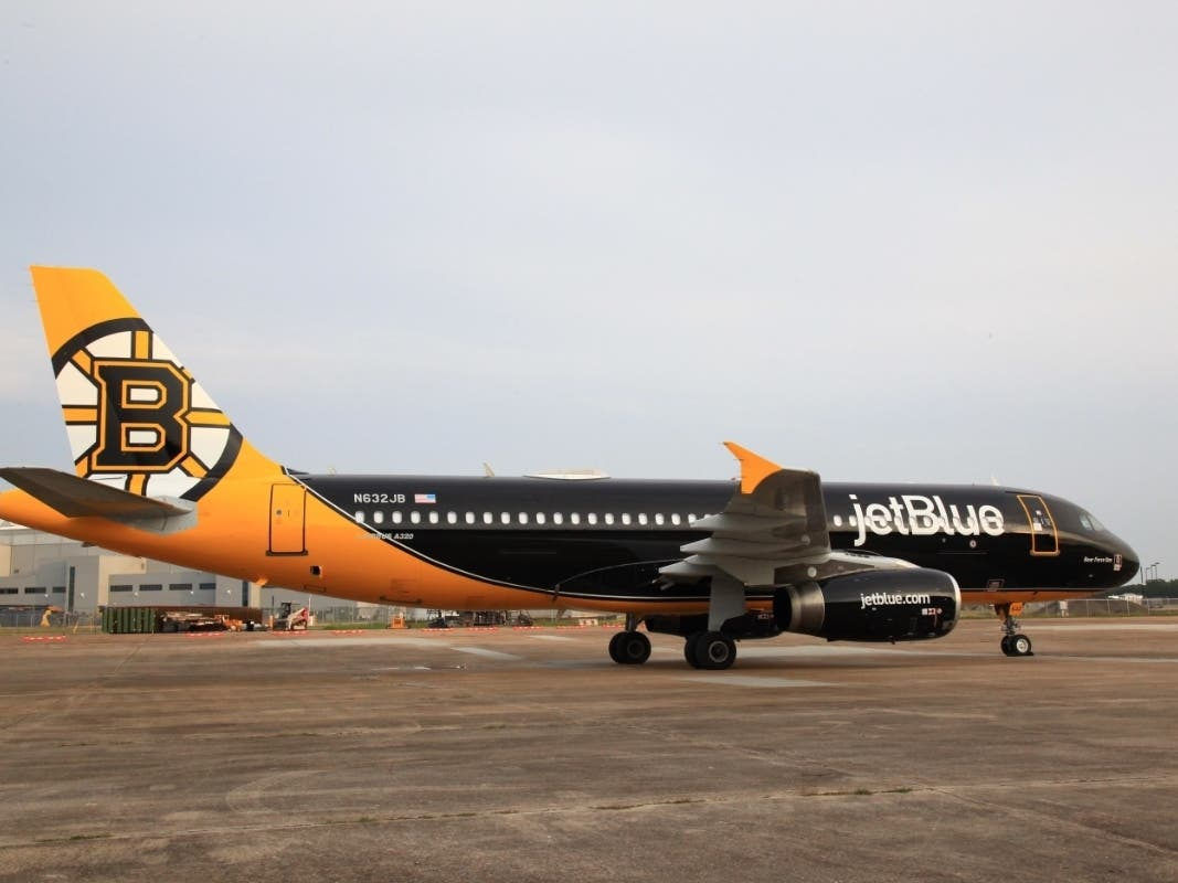 bear force one has landed jetblue decorates plane for bruins boston ma patch jetblue decorates plane for bruins