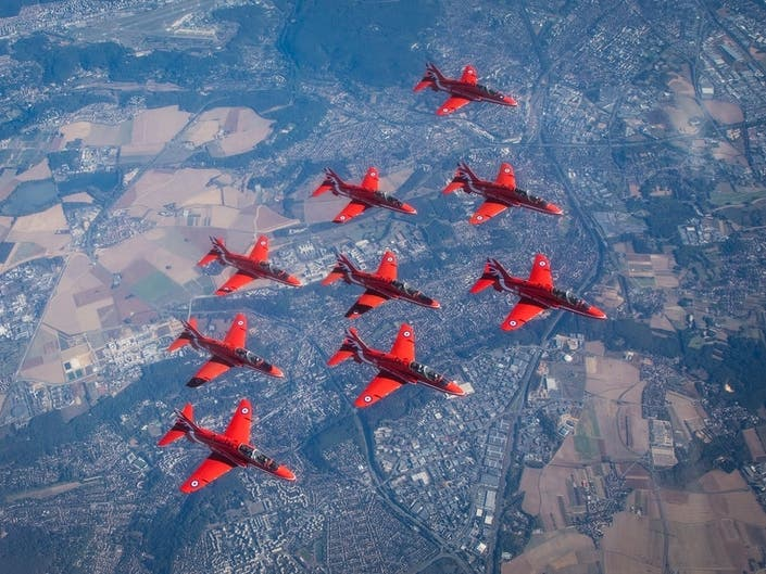 British Royal Air Force Aerobatic Team To Fly Over Boston