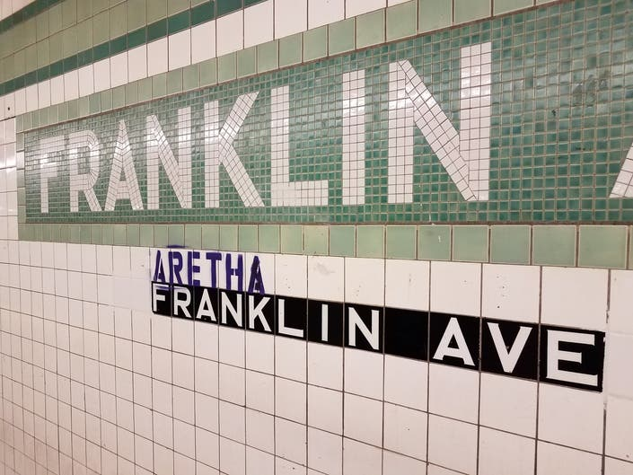 Bed-Stuy Straphangers Show Aretha Respect