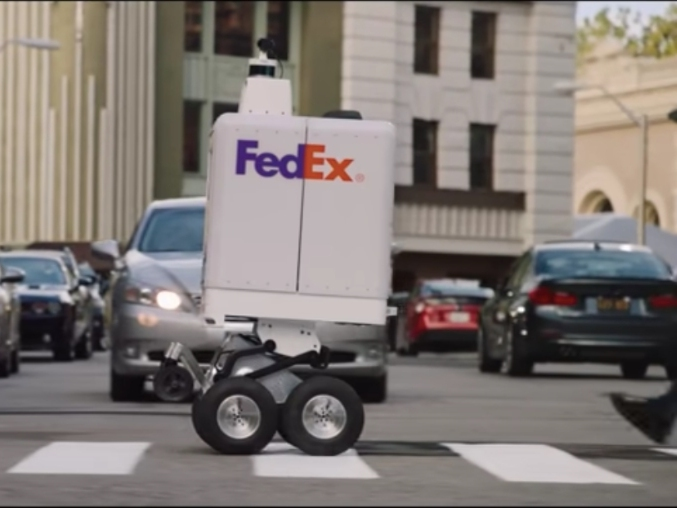 See FedExs Package Robots Roll Through NYC Streets