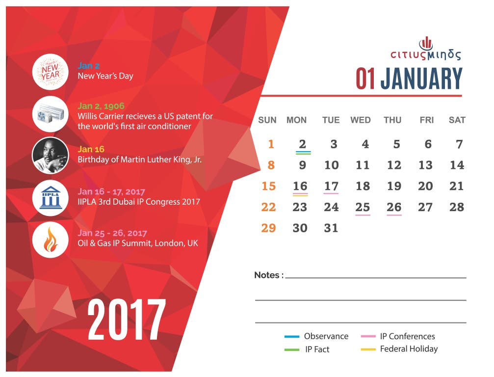 Citius Minds launches a Calendar that understands IP