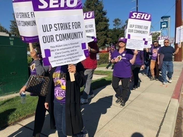 Santa Clara Co. Workers Resume Strike A Day After Offer By County