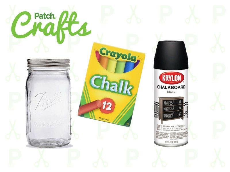 Earth Day Craft Chalkboard Mason Jar Planters Across America Us