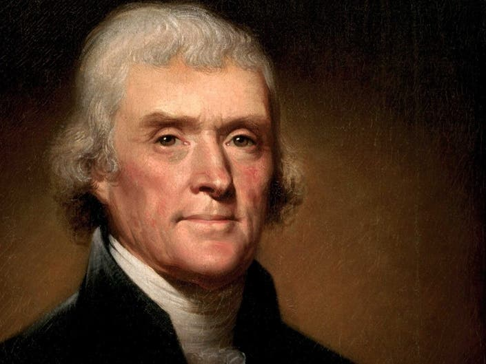 Thomas Jefferson was the third President of the United States of America. He is one of the founding fathers of America and the author of the Declaration of Independence. He believed that Black people were inferior to White people.