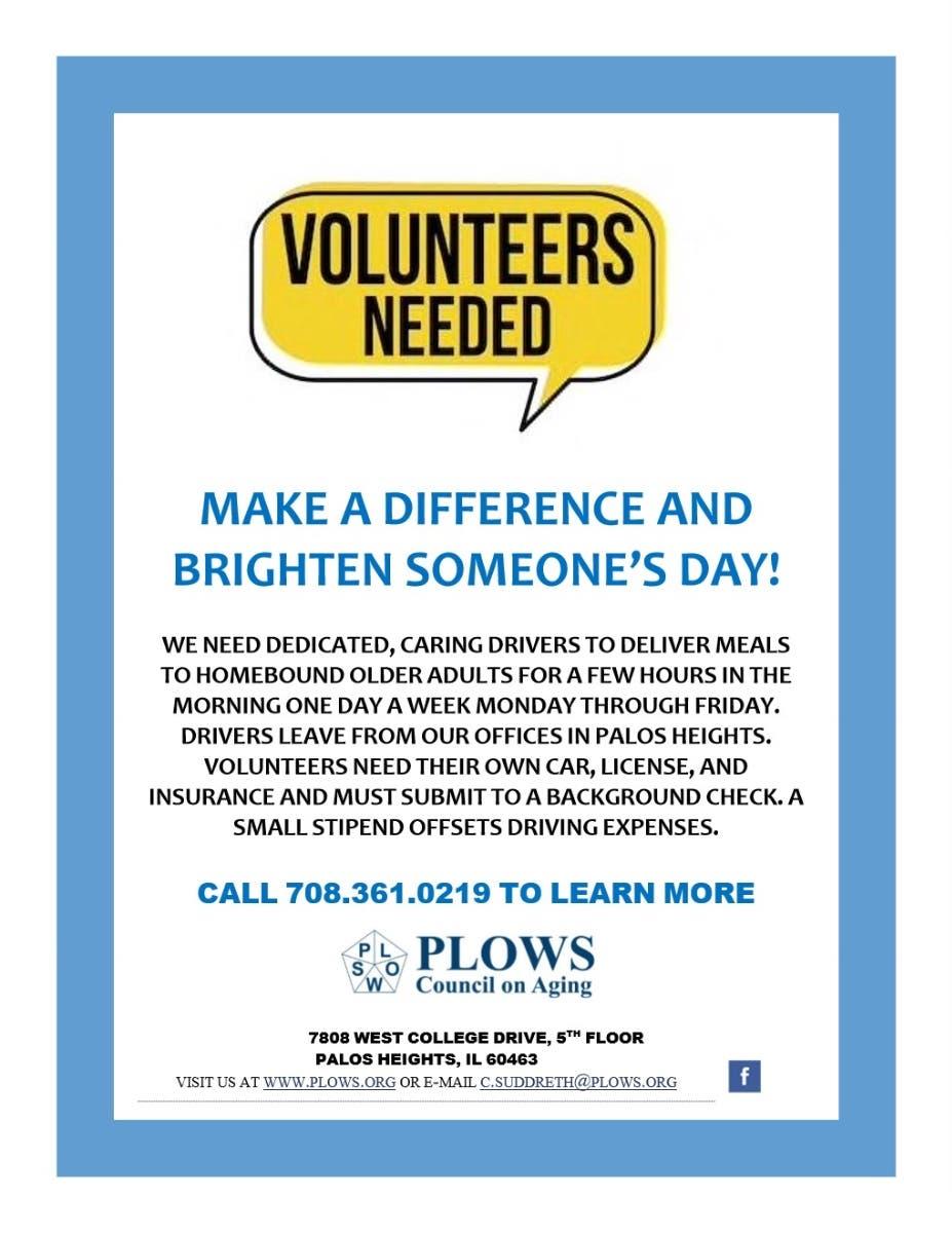 Rewarding Volunteer Opportunity Use >> Looking For A Rewarding Volunteer Opportunity Palos Il Patch