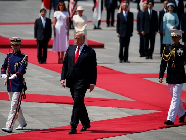 Trump Becomes First Head Of State To Meet Japans New Emperor