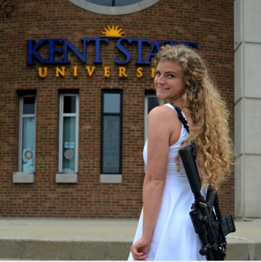 'Come And Take It': Kent State Grad Poses With AR-15 On
