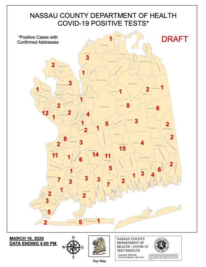 Nassau County Releases Map To Track Coronavirus Cases Garden