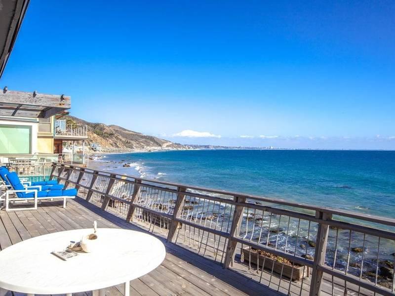 Charming Malibu Beach Cottage Has Large Ocean View Deck