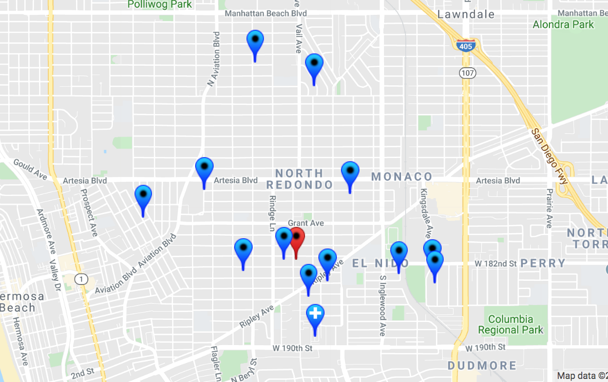 megans law map of registered sex offenders in Huntington Beach
