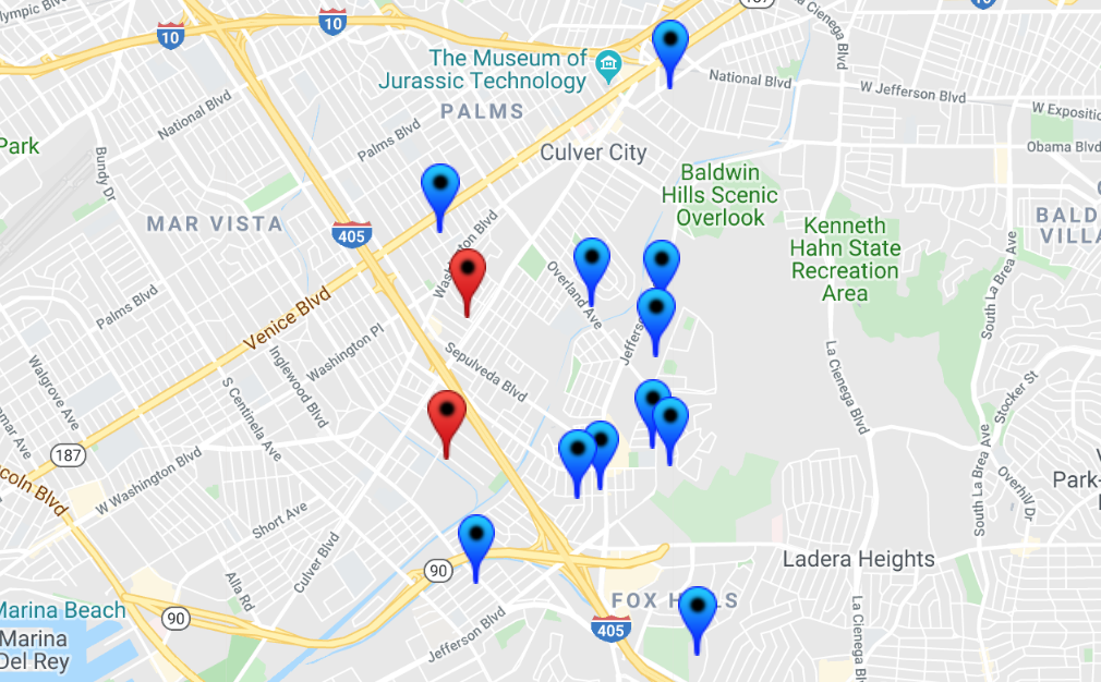 27 Offenders In Culver City: Halloween Safety Map 2019 ... on danville ca map, puente hills ca map, culver city google map, tucson ca map, n hollywood ca map, newport harbor ca map, el segundo ca map, chicago ca map, sandberg ca map, chino ca map, el camino college ca map, larchmont village ca map, lake ca map, las vegas ca map, industry hills ca map, downtown culver city map, santa monica ca map, butte valley ca map, conejo valley ca map, fort worth ca map,