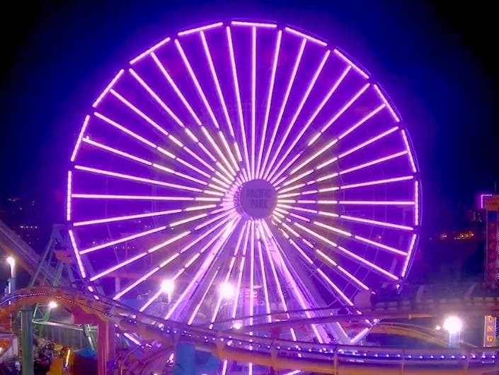 Pacific Park Ferris Wheel To Honor Kobe Bryant With Light Display