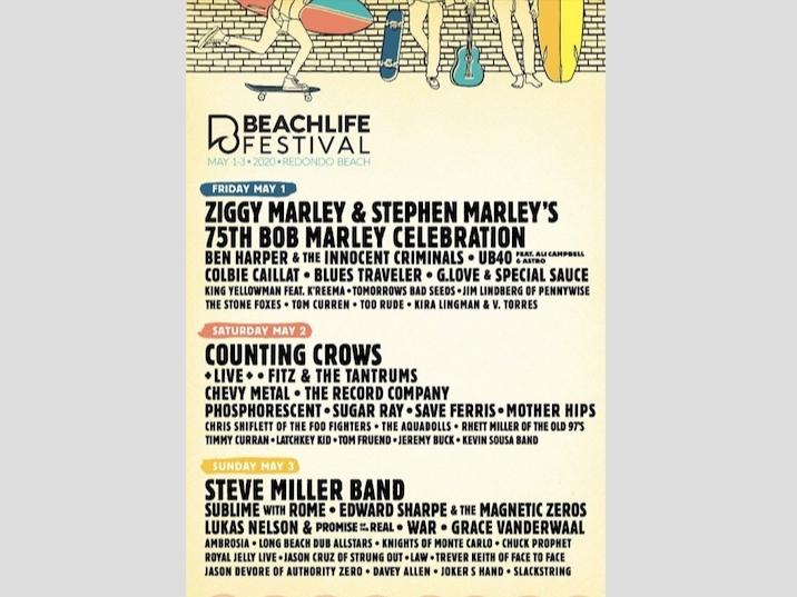 Blues Traveler Halloween 2020 BeachLife Festival Announces Daily Lineups | Redondo Beach, CA Patch