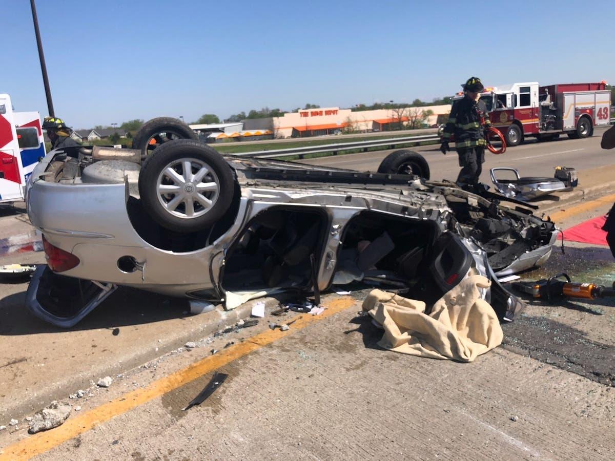 Man Hurt After Car Goes Airborne, Lands Upside Down In I-70