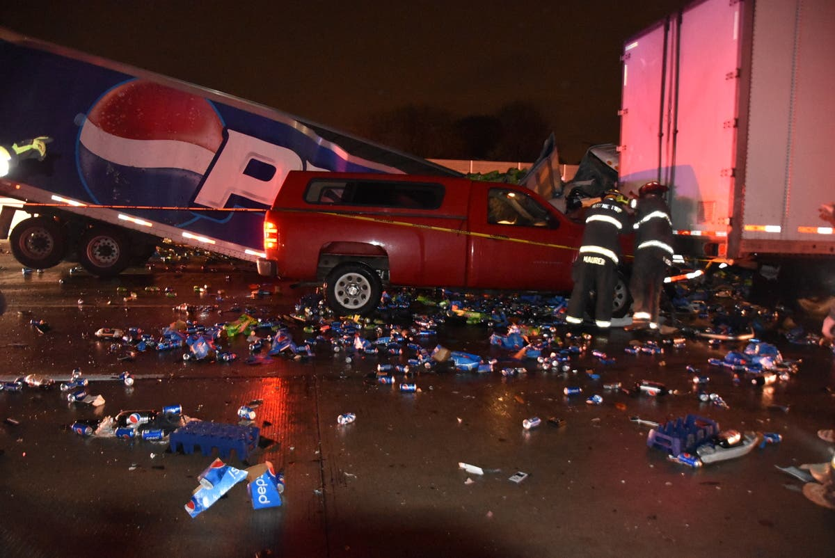 Driver Trapped In Pepsi Semi Among 4 Hurt In I-465 Crash