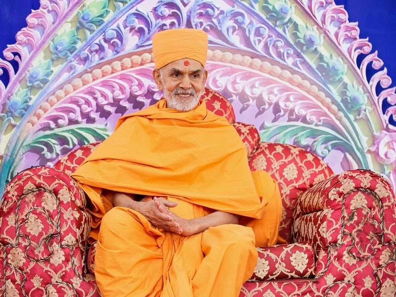 Happy New Year Mahant Swami 98