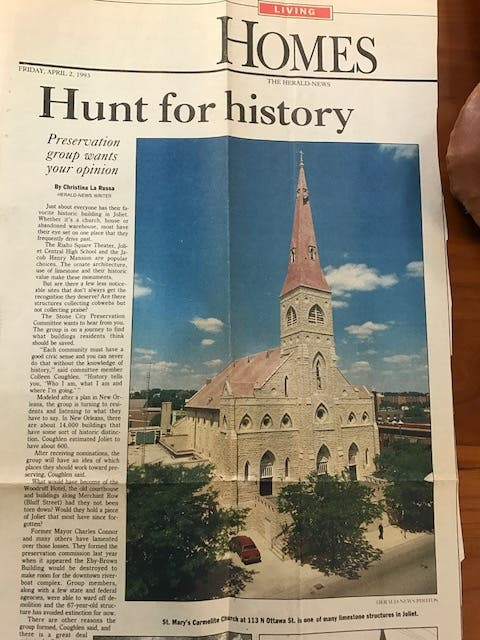 Time To Demolish St  Mary's Carmelite Church: Ferak Column | Joliet